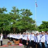 เทศบาลตำบลสันทรายร่วมพิธีถวายพระพรเนื่องในวันพ่อแห่งชาติ 5 ธันวาคม 2557