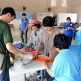 """เทศบาลตำบลสันทรายจัดอบรมโครงการส่งเสริมและพัฒนาอาชีพผู้พิการตำบลสันทราย กิจกรรม """"ฝึกอบรมการทำการบูรถุงหอม"""""""